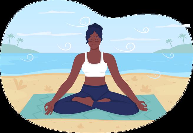 Summer beach relaxation Illustration