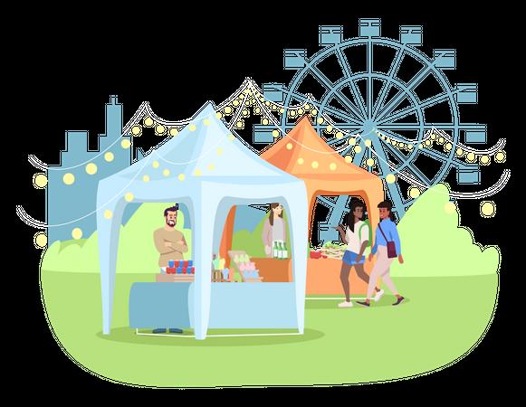 Summer fair Illustration