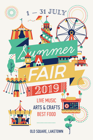 Summer Fair poster Illustration