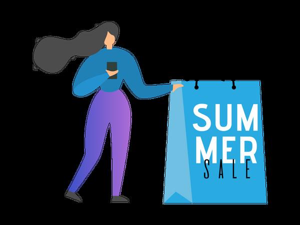 Summer Final Sales Banner Illustration
