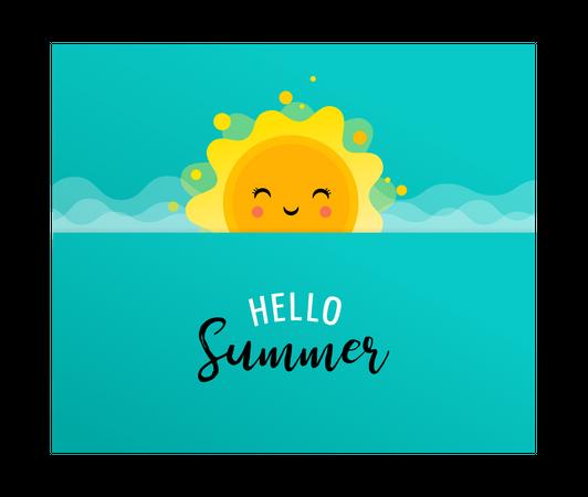 Summer fun background Illustration