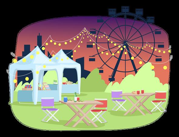Summer funfair Illustration