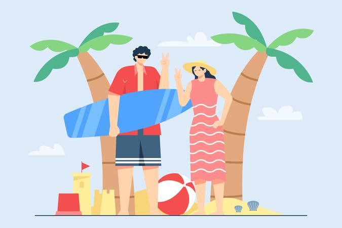 Summer Holiday Activity Illustration