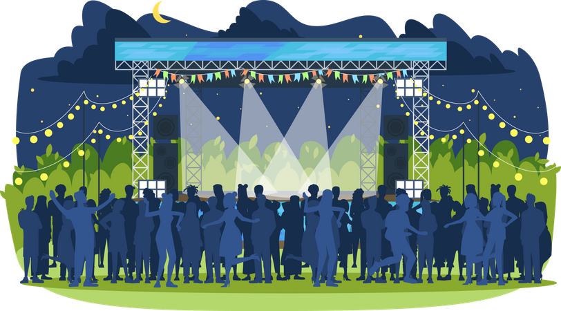 Summer music festival Illustration