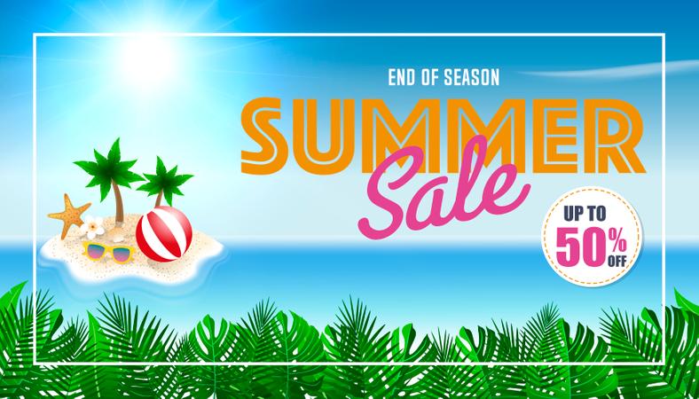 Summer sale background Illustration