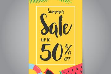 Summer Sale Banners Illustration Pack