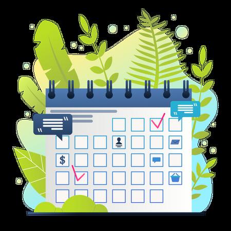 Summer Schedule Illustration