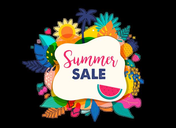 Summer season sale Illustration