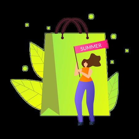 Summer Shopping Sale Illustration