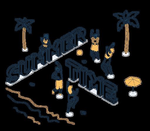 Summer time Illustration