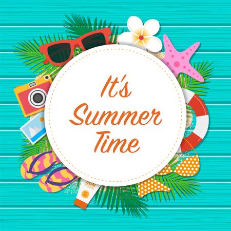 Summer time background Illustration