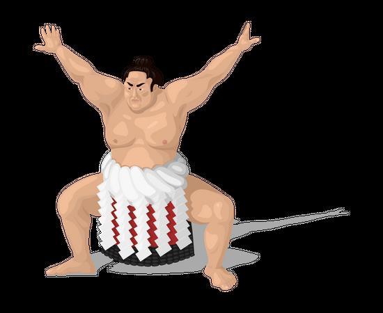 Sumo player Illustration