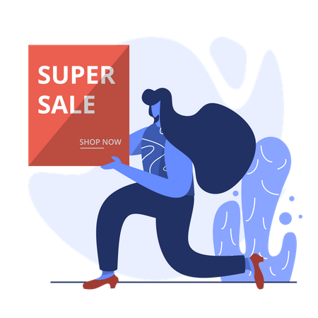 Super money saver sale Illustration