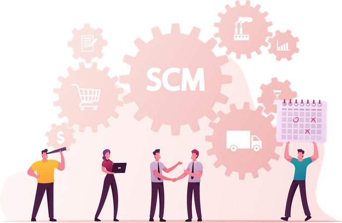 Supply Chain Management and Business Strategy Illustration