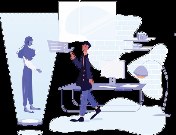 Support automation Illustration