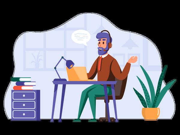 Support service Illustration