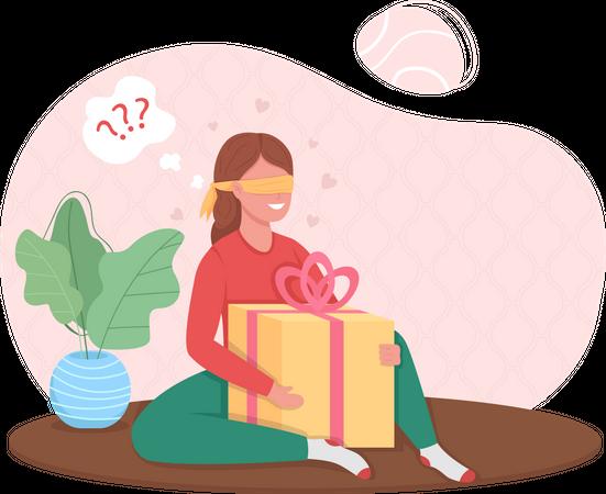 Surprise gift Illustration