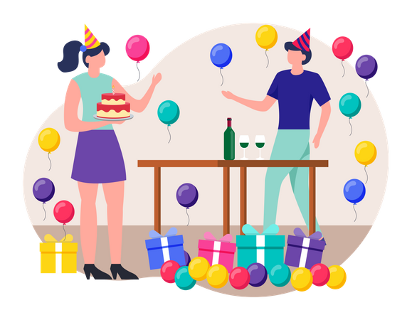 Surprise Party Illustration