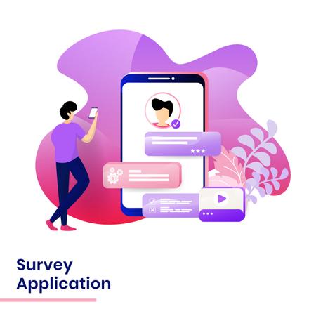 Survey Application Illustration
