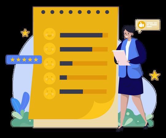 Survey customer review Illustration