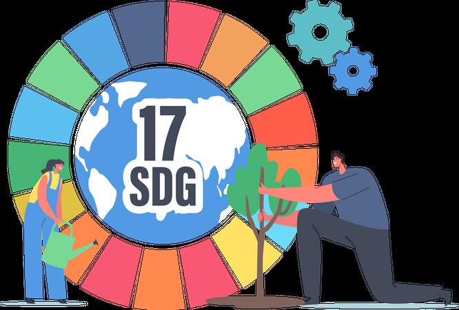Sustainable Development Goals Illustration