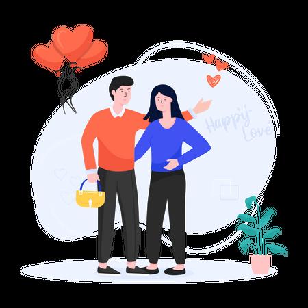 Sweet Couple Illustration