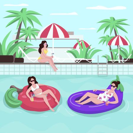 Swimming pool Illustration