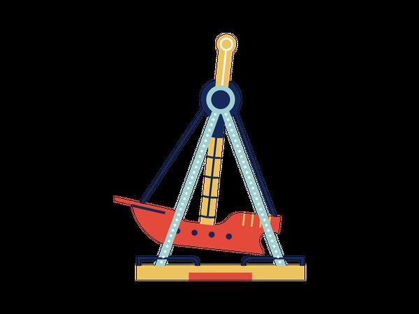 Swing boat ride Illustration