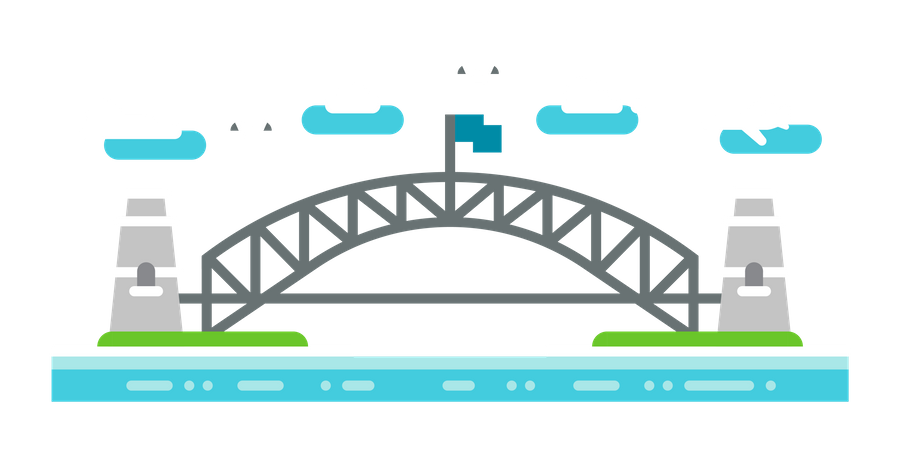 Sydney Bridge Illustration