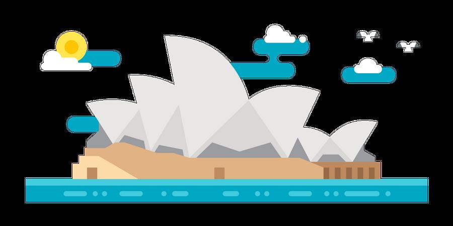 Sydney Opera House Illustration