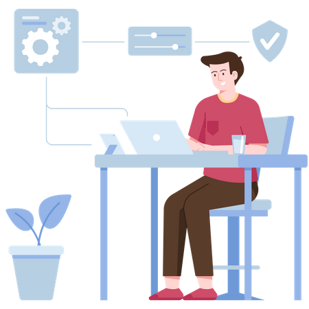 System setting Illustration