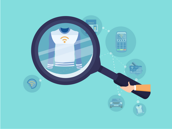 T-shirt with NFC chip Illustration