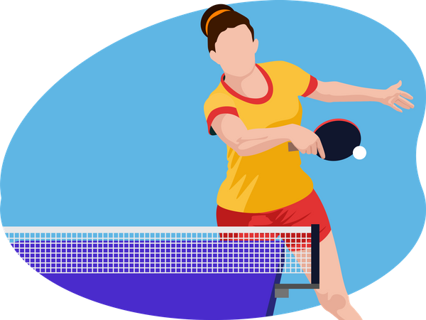 Table Tennis Player Illustration