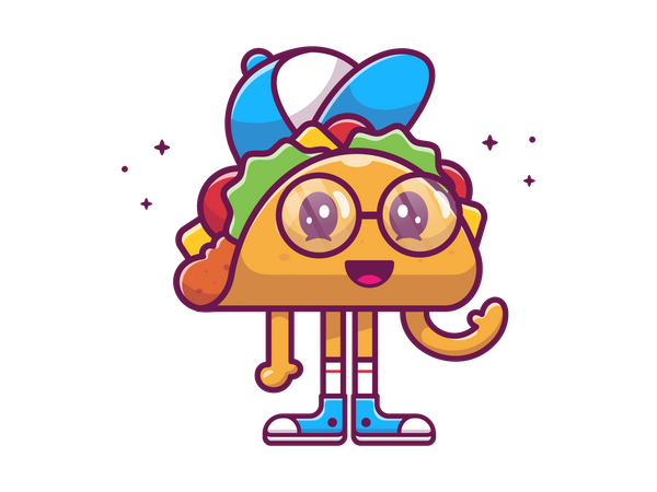 Taco boy Illustration