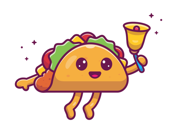 Taco with bell Illustration