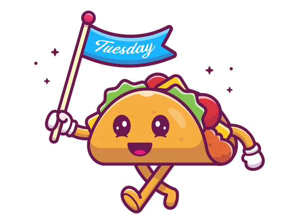 Taco with flag Illustration