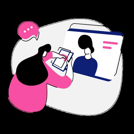 Talk Online Illustration