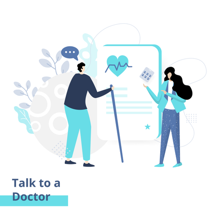 Talk to a Doctor Illustration