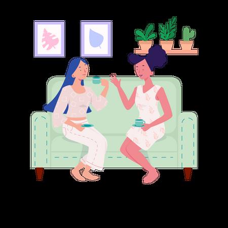 Talking To A Friend Illustration