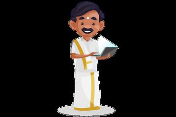 Tamil Man Illustration Pack