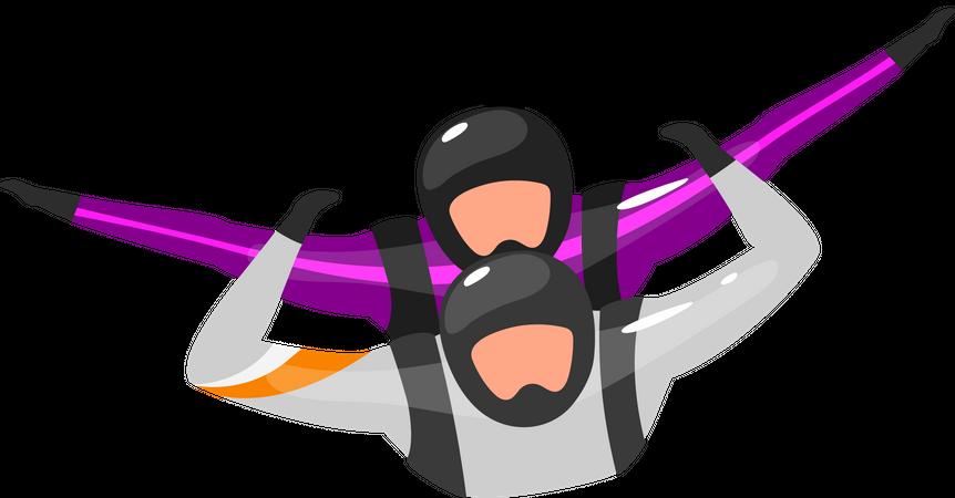 Tandem free-fall Illustration