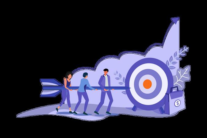 Target Achievement by Team Illustration