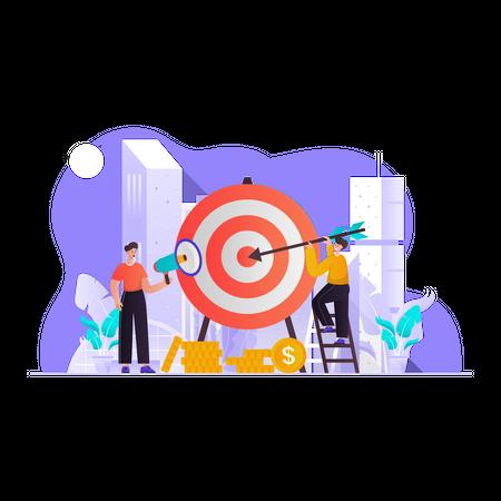Target Marketing Illustration