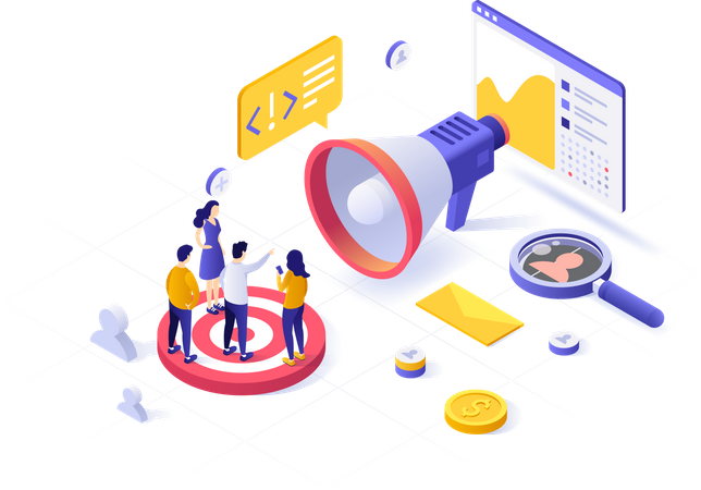 Targeting audience for marketing Illustration