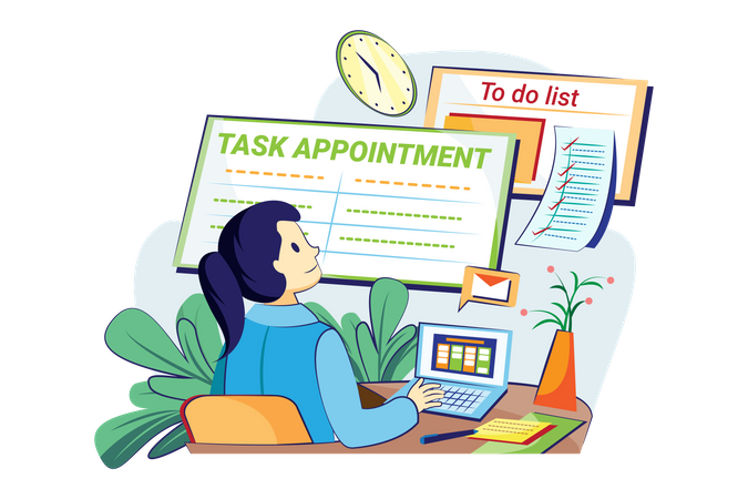 Task appointment management Illustration