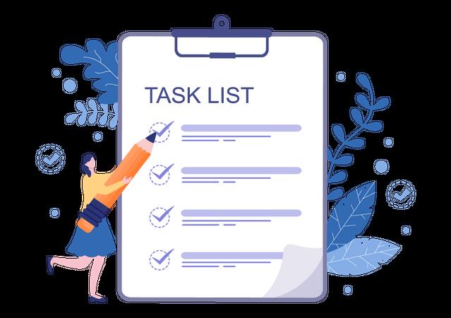 Task list Checking Illustration
