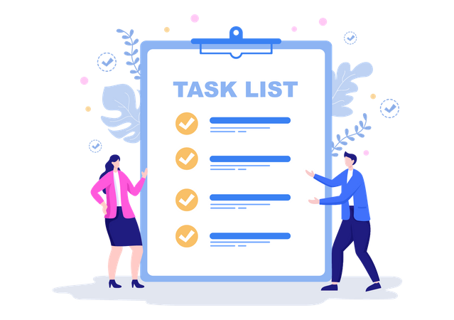 Task list Management Illustration