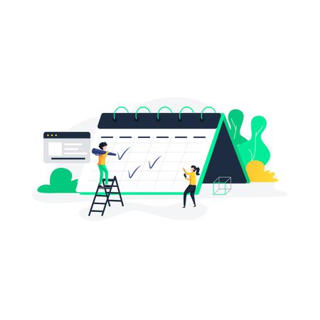 Task management with deadline Illustration