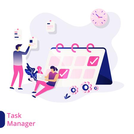 Task Manager Illustration