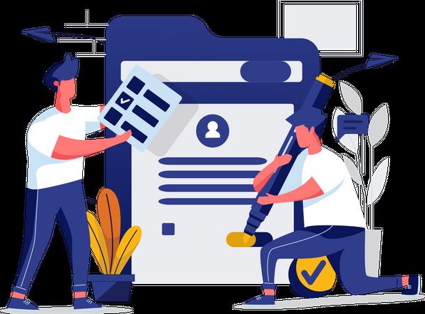 Task registration Illustration